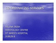 CO ORDINATING SERVICES - Irish Haemophilia Society