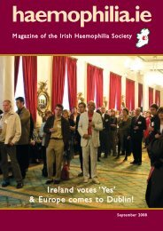 Newsletter revamp Oct 07 - Irish Haemophilia Society