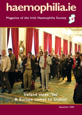 Newsletter revamp Oct 07 - Irish Haemophilia Society