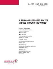 A STUDY OF REPORTED FACTOR VIII USE AROUND THE WORLD