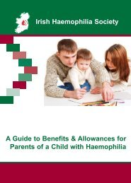 Irish Haemophilia Society A Guide to Benefits & Allowances for ...