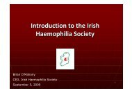 to view a presentation by Brian O'Mahony titled - Irish Haemophilia ...