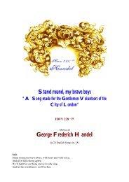 Stand round, my brave boys George Frederich Handel - HAENDEL.IT