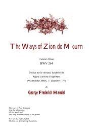 The Ways of Zion do Mourn - HAENDEL.IT