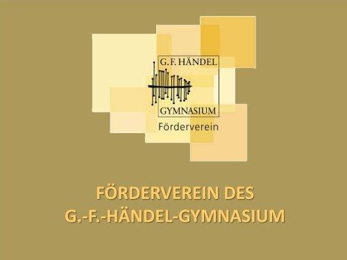 Der Verein unterstützt - Förderverein Händel-Gymnasium Berlin