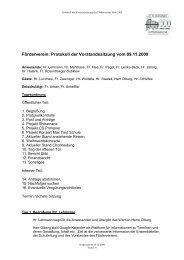Förderverein: Protokoll der Vorstandssitzung vom 09.11.2009