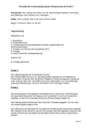Protokoll der Vorstandssitzung des Fördervereins 24.10.2011 Seite ...