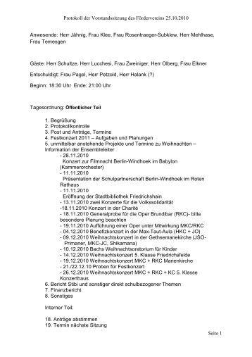 protokoll zur gesellschafterversammlung. was ein protokoll mit, Einladungen