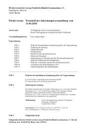 Jahreshauptversammlung 10 - Förderverein Händel-Gymnasium ...