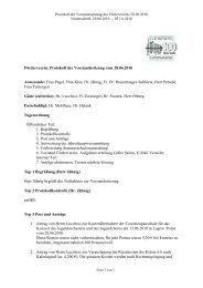 Förderverein: Protokoll der Vorstandssitzung vom 28.06.2010 ...