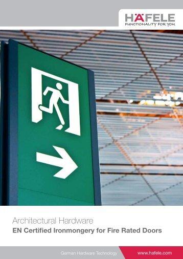 EN Certified Ironmongery for Fire Rated Door part 1 (6.29MB) - Hafele
