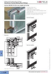 Sliding and Folding Door Fittings Aluminium Framed Sliding ... - Hafele