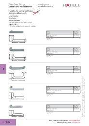 Glass Door Accessories - Hafele