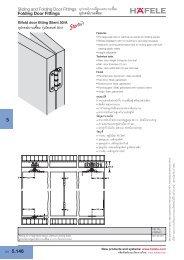 Folding Door Fittings - Hafele