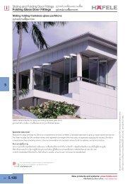 Folding Glass Door Fittings - Hafele