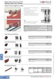 Sliding and Folding Door Fittings Sliding Timber Door Fittings - Hafele