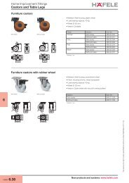Castors and Table Legs, Office Organization - Hafele
