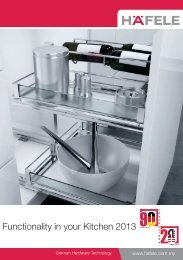 Functionality in your Kitchen 2013 (10.4MB) - Hafele