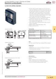 Eletronic Locking System - Hafele