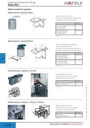 Waste Bins, Kitchen Cabinet Accessories - Hafele