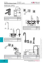 Faucets and Shower heads - Hafele