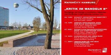 """""""KritiK im Wandeln 8"""" - HafenCity Universität Hamburg"""