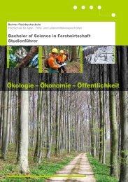 Studienführer Forstwirtschaft - HAFL - Berner Fachhochschule
