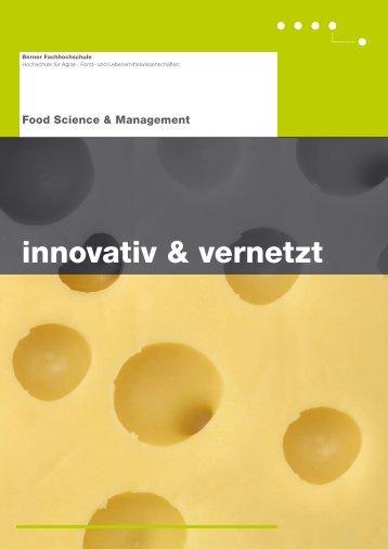 Broschüre innovativ & vernetzt - HAFL - Berner Fachhochschule