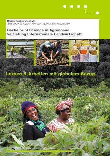 Flyer Internat. Landwirtschaft - HAFL - Berner Fachhochschule