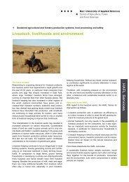 Livestock - HAFL - Berner Fachhochschule