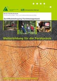 Infobroschüre Zertifikatslehrgang - HAFL - Berner Fachhochschule