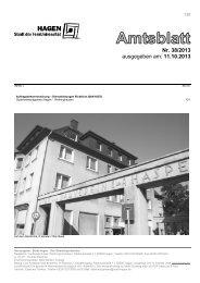 Amtsblatt Nr. 38/2013 vom 11.10.2013 - Hagen