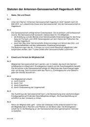 Statuten der Antennen-Genossenschaft Hagenbuch AGH