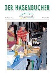 28. Jahrgang / Nr. 6 Dezember 2007 - Gemeinde Hagenbuch ...