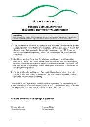 Reglement Musik - Gemeinde Hagenbuch