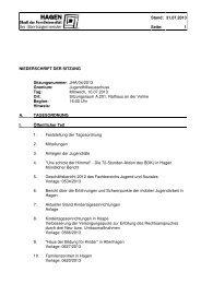 Protokoll der Sitzung vom 10.07.2013 - Hagen