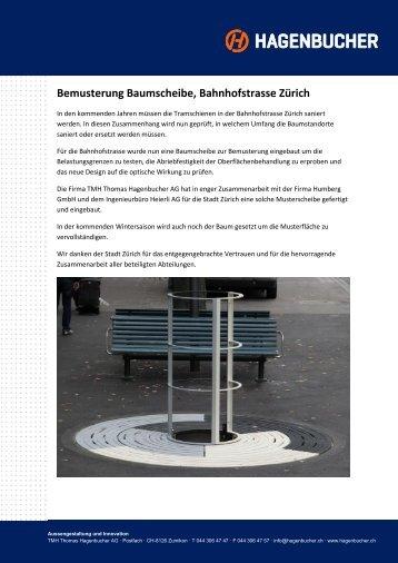 Bemusterung Baumscheibe, Bahnhofstrasse Zürich - Tmh.ch