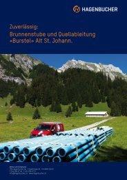 Brunnenstube und Quellableitung «Burstel» Alt St. Johann. - TMH