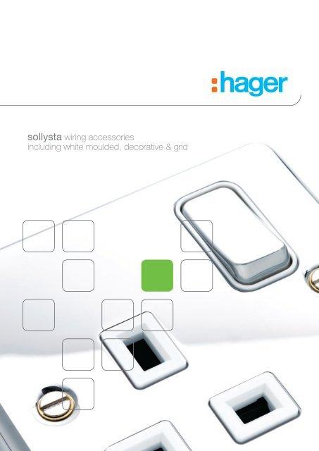 HAGER WMGP3 WHITE Sollysta RANGE 3 GANG GRID COVER
