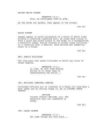 Trailer Script - Scripped