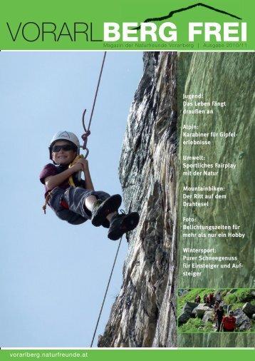 vorarl BERG FREI 2010 - 2011 - Naturfreunde Vorarlberg