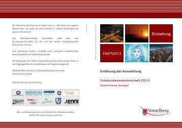 Einladung zur Eröffnung der Ausstellung Fotobundesmeisterschaft ...