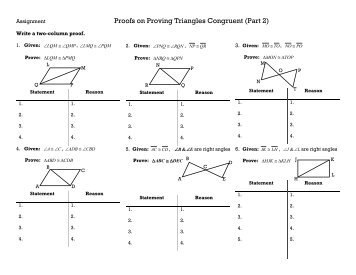 4.4 Proving Triangles are Congruent: ASA & AAS