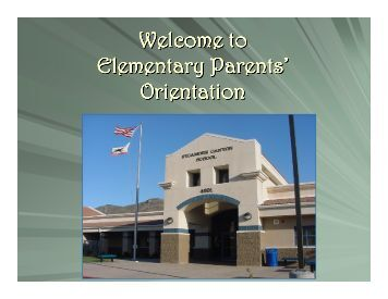 Orientation - Conejo Valley Unified School District