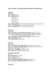 PRE-ALGEBRA 7CP HOMEWORK ASSIGNMENTS TRIMESTER 3 ...