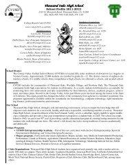 School Profile 2011-2012 - Conejo Valley Unified School District