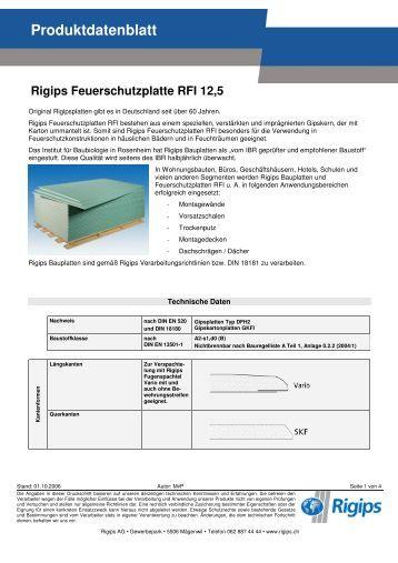 produkt datenblatt rigidur h 12 5 rigips. Black Bedroom Furniture Sets. Home Design Ideas