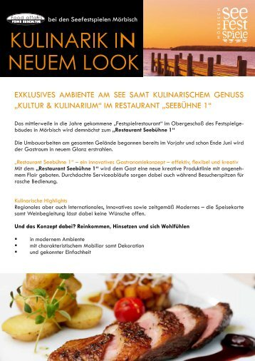 "im restaurant ""seebühne 1"" - Food affairs"