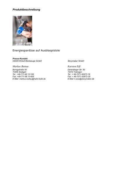 Umweltschutz mit HAHN+KOLB - HAHN+KOLB Werkzeuge GmbH