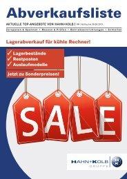 HK Abverkaufsliste 2013 - HAHN+KOLB Werkzeuge GmbH